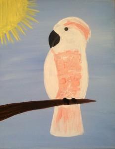 cockatoo kid painting